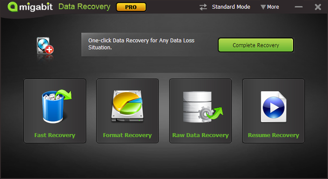 Amigabit Data Recovery Screenshot