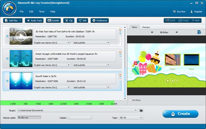 Aiseesoft Blu-ray Creator Screenshot 1