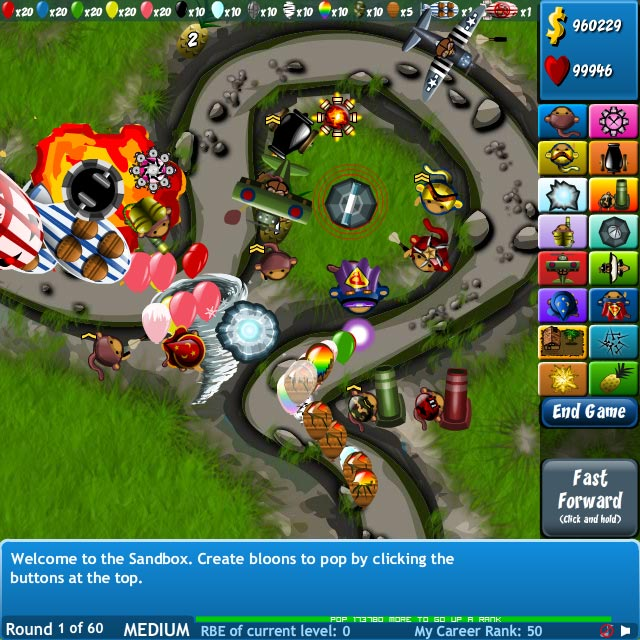 Bloons Tower Defense 4 Screenshot 1