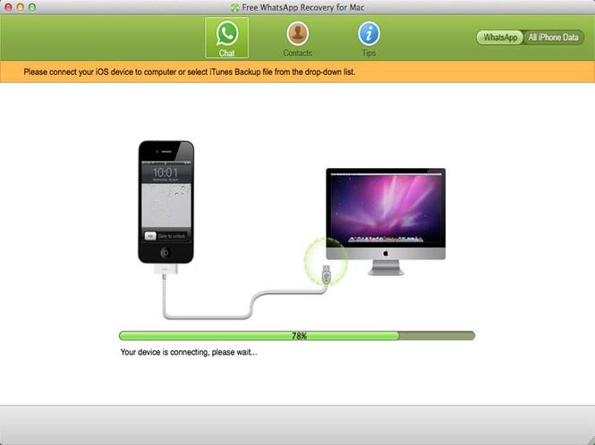 Free Whatsapp Recovery for Mac Screenshot