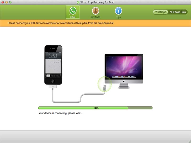 WhatsApp Recovery for Mac Screenshot 1