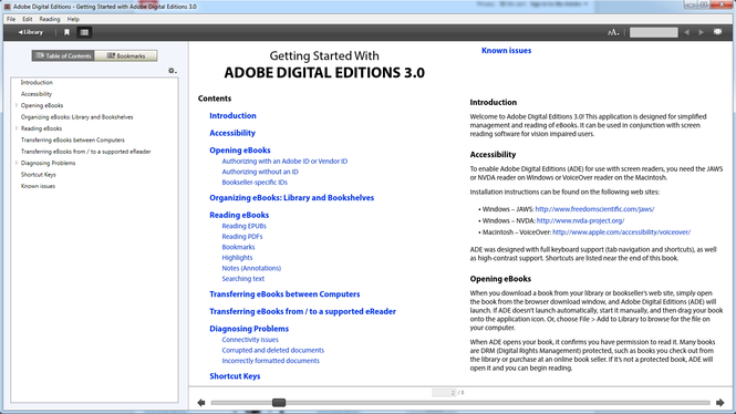 Adobe Digital Editions Screenshot 1