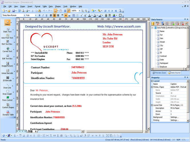 PrintShop Variable Data Batch Printing Software Screenshot
