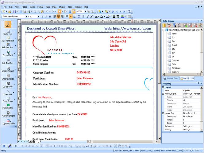 PrintShop Variable Data Batch Printing Software Screenshot 1