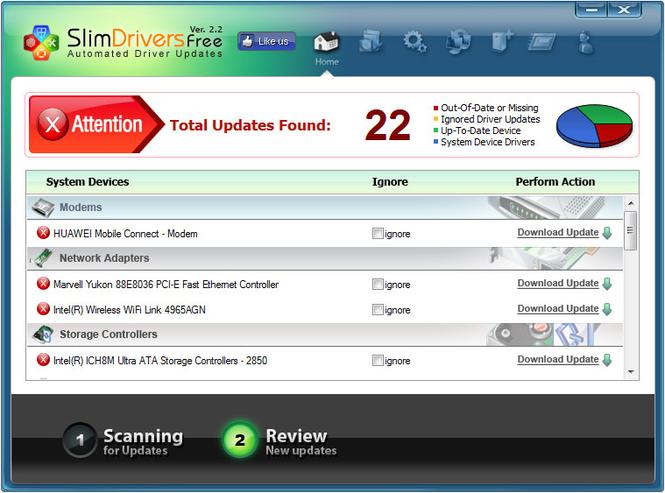 Slim Drivers Screenshot 2