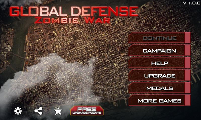 Global Defense: Zombie War Screenshot 1