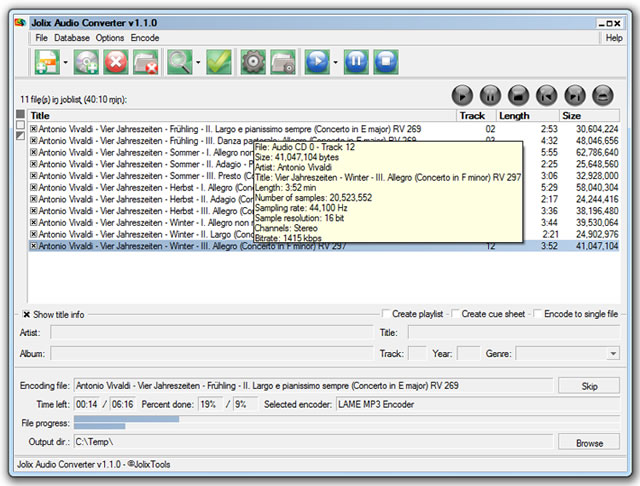 Jolix Audio Converter Screenshot
