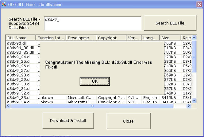 FREE DLL Fixer Screenshot