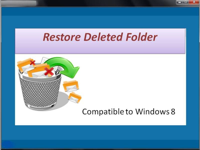 Restore Deleted Folder Screenshot 1