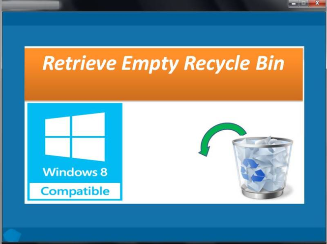 Retrieve Empty Recycle Bin Screenshot