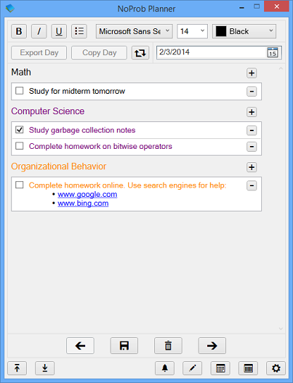 NoProb Planner Screenshot