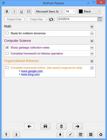 NoProb Planner Screenshot 1