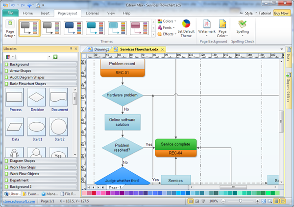 Edraw Flowchart Screenshot 2