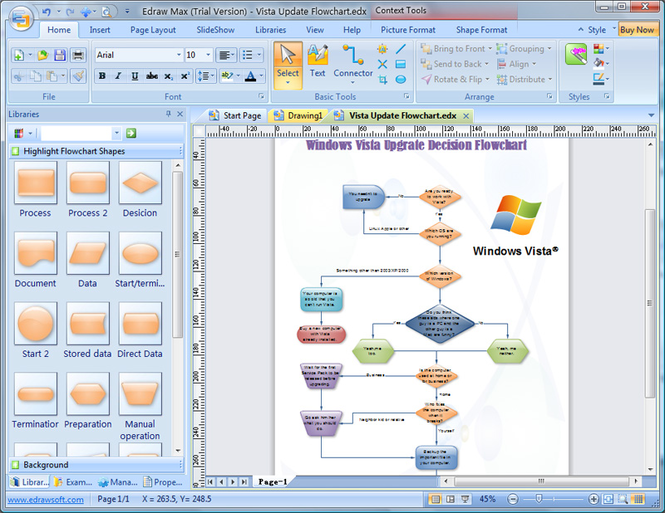 Edraw Flowchart Screenshot 1