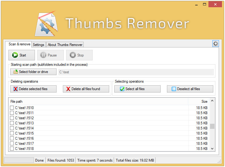Thumbs Remover Screenshot 3