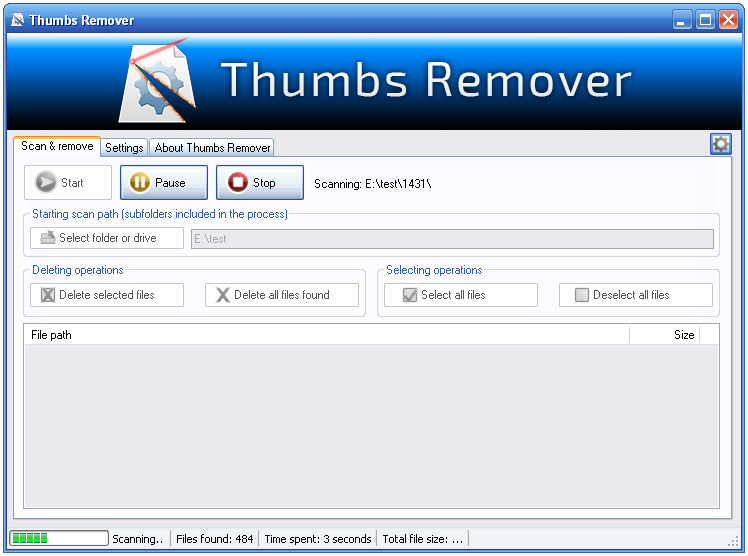 Thumbs Remover Screenshot