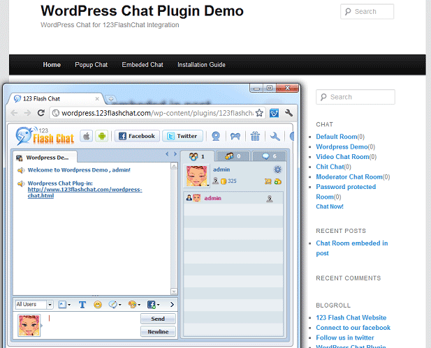 Wordpress Chat Extension Screenshot