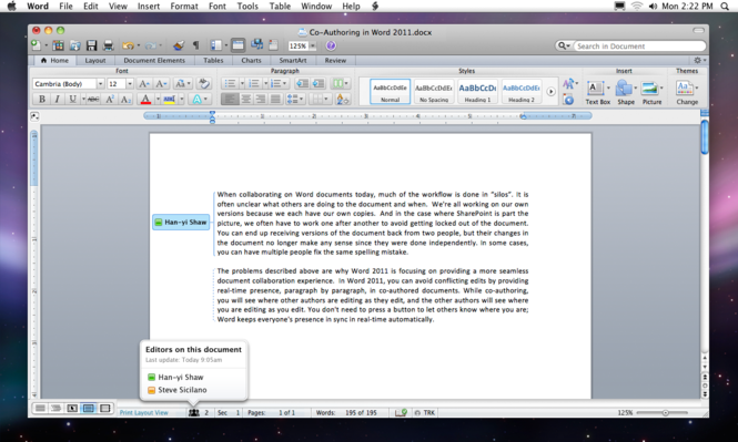 Microsoft Office 2011 Screenshot 1