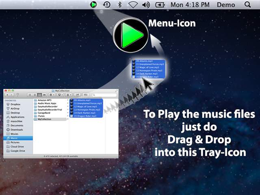 TrayPlayer Screenshot