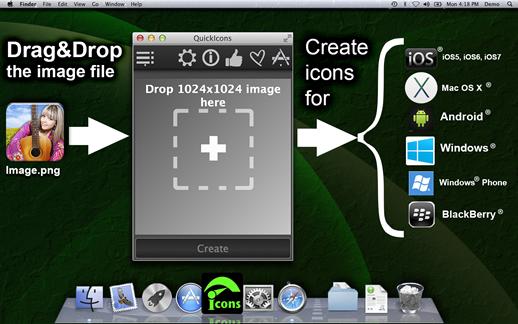 QuickIcons Screenshot 1
