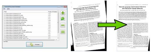 Scanned Document Skew Fixer Screenshot