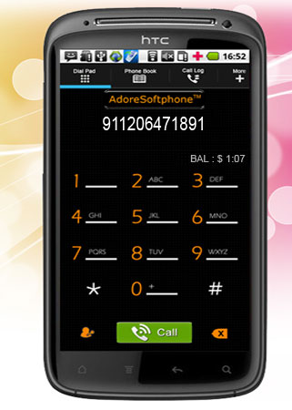 AdoreSoftphone Screenshot