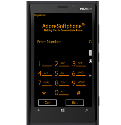 Windows Phone Dialer (VoIP) Screenshot