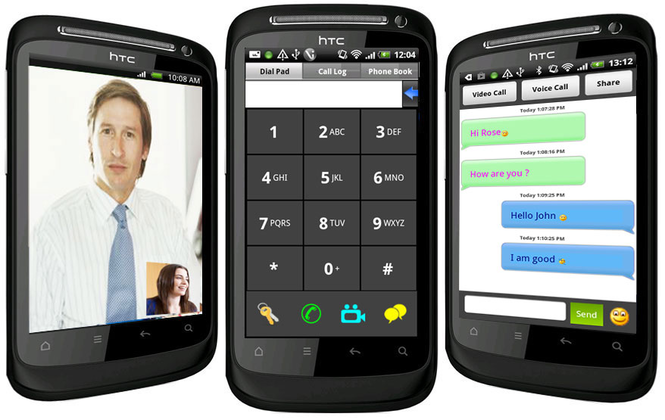 Android Communicator Screenshot