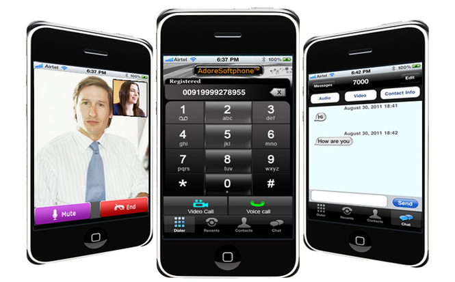 iPhone Communicator Screenshot