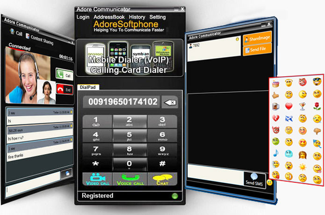 Adore PC Communicator for Windows Screenshot 1
