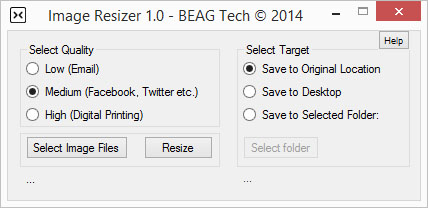 BEAG Image Resizer Screenshot