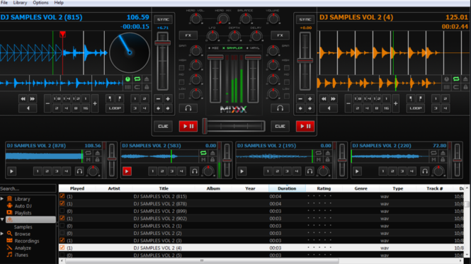 Mixxx Screenshot