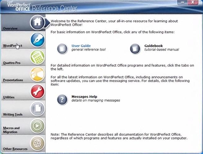 Corel WordPerfect Office Screenshot 1