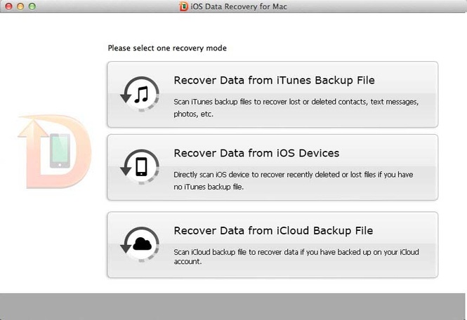 Tenorshare iOS Data Recovery for Mac Screenshot