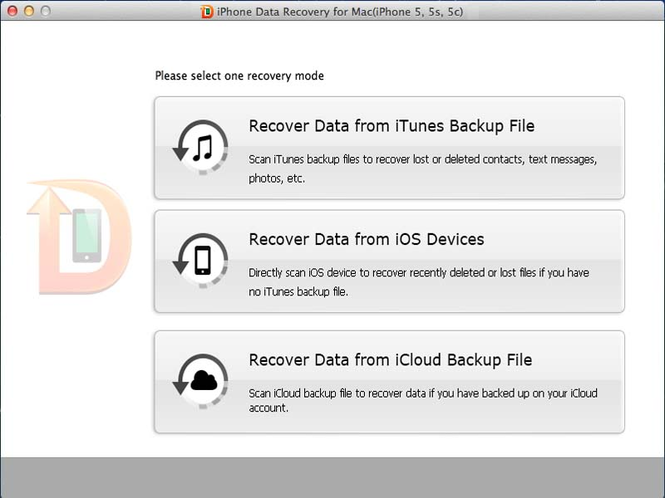 Tenorshare iPhone Data Recovery for Mac Screenshot