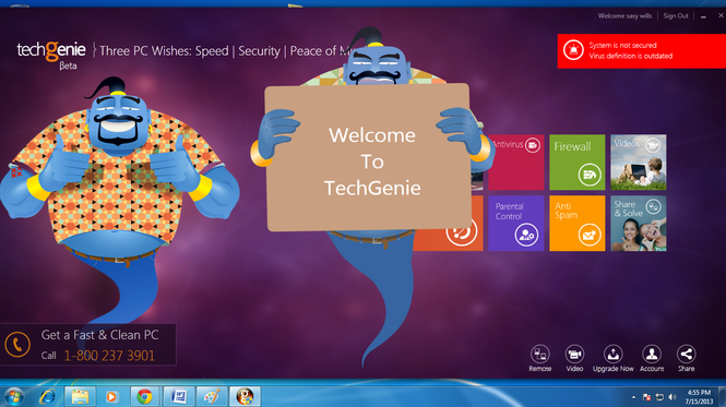 TechGenie Free Antivirus Screenshot 1