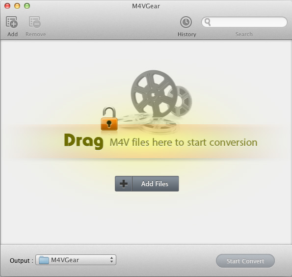 M4VGear DRM Media Converter Screenshot