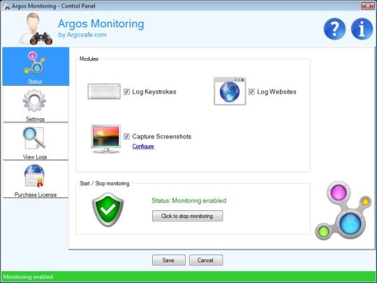 Argos Monitoring Screenshot