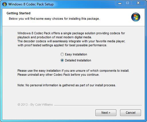 Windows 8 Codec Pack Screenshot 2
