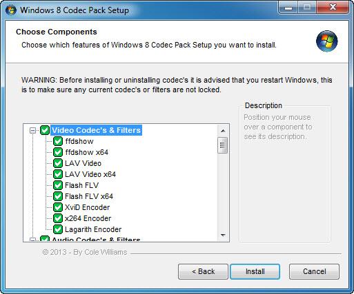 Windows 8 Codec Pack Screenshot 3