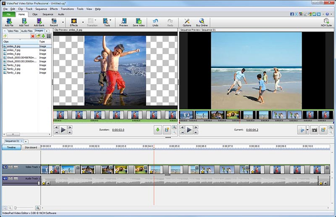 VideoPad Masters Edition for Mac Screenshot