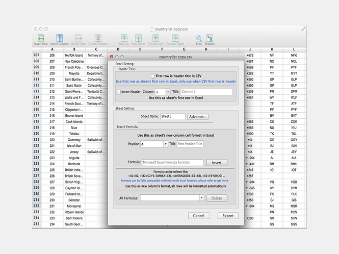 Canyua CSV Editor Pro Screenshot 1