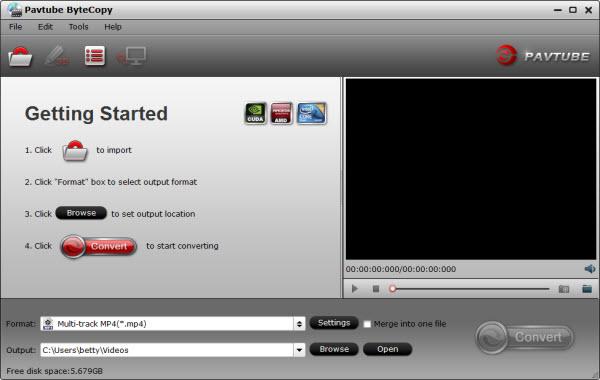 Pavtube ByteCopy Screenshot 1