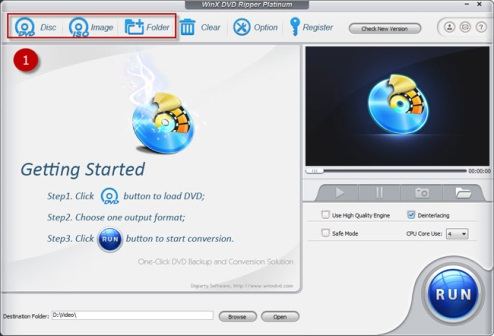 WinX DVD Ripper Platinum for PC Screenshot