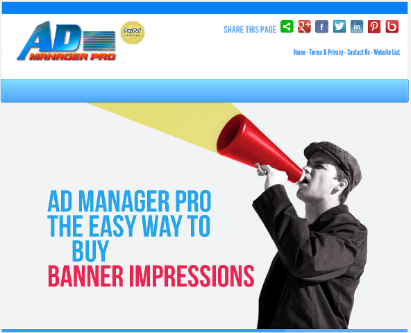 Ad Manager Script Screenshot