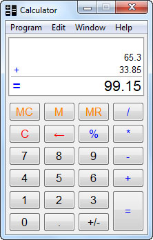 Calculator 32bit Screenshot 1