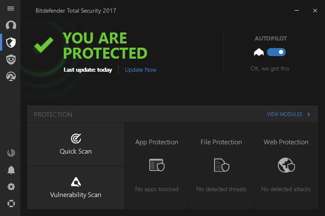 Bitdefender Total Security 2017 Screenshot