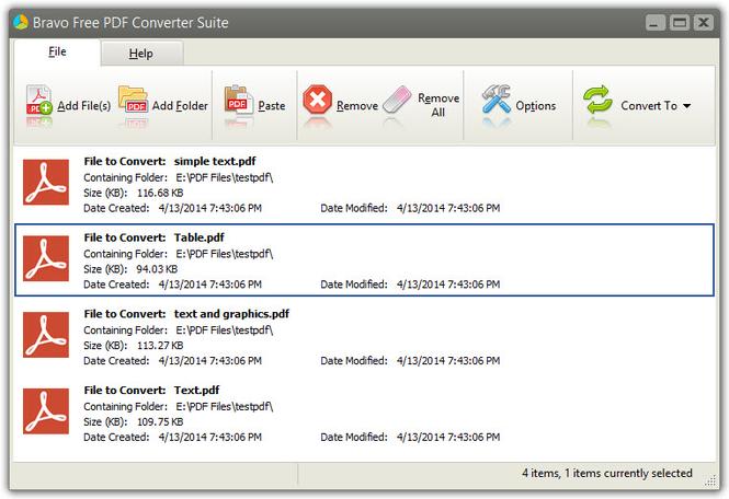 Bravo Free PDF Converter Suite Screenshot 1