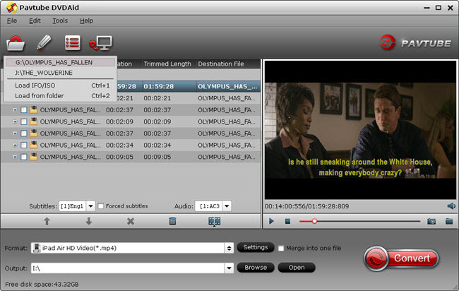 Pavtube Free DVDAid for Mac Screenshot