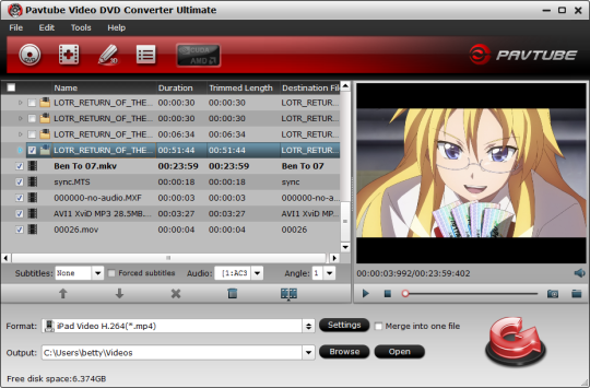 Pavtube Free Video DVD Ultimate Screenshot 1
